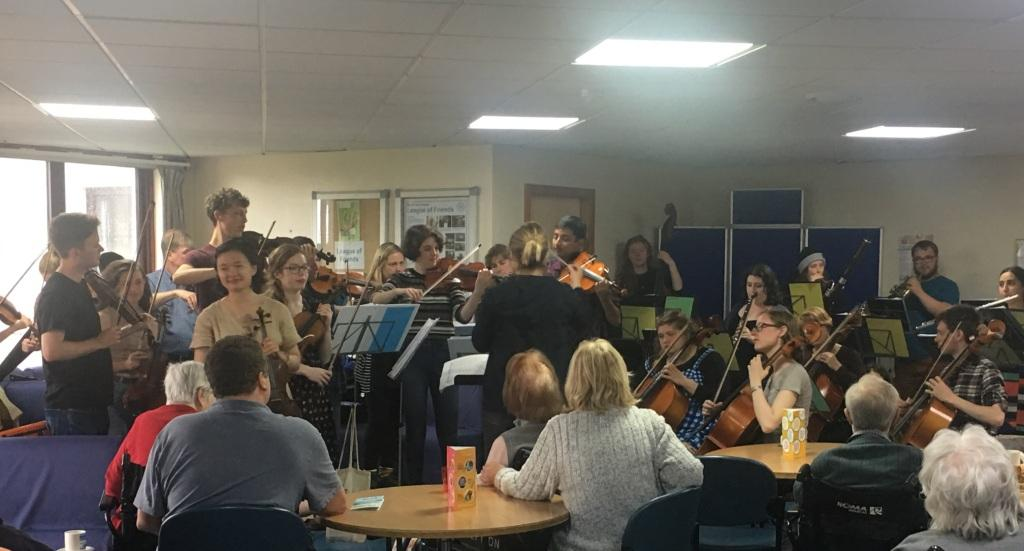 Nevis Ensemble performing at the Western Isles Hospital.