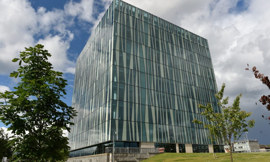 The Sir Duncan Rice library at Aberdeen University.