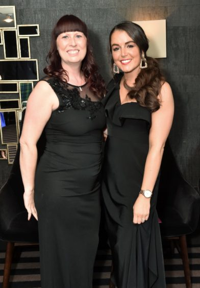 VIP Guests (from left) Sharon Methven and Aimee Mitchell. Picture by COLIN RENNIE