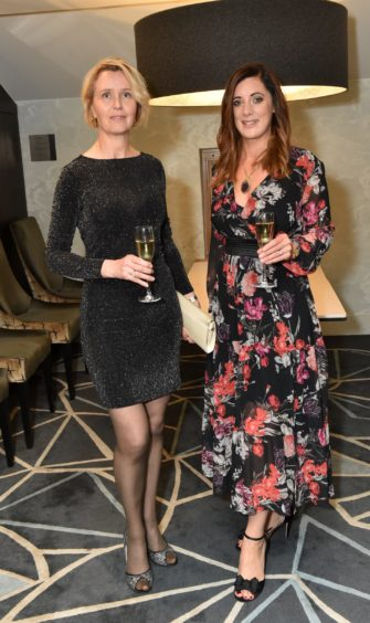 VIP Guests (from left) Allison Carrington and Jenny MacDonald. Picture by COLIN RENNIE