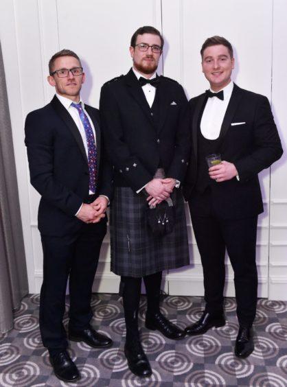 VIP Guests Kevin Stephenson, Elliot Ewen and Dan Millard. Picture by COLIN RENNIE