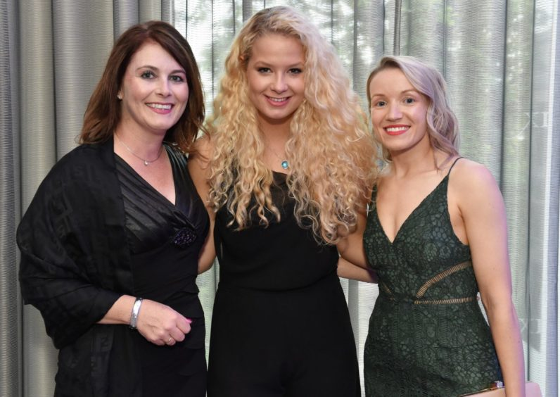Adele Bennett, Heather Buchan and Sarah Manson. Picture by COLIN RENNIE