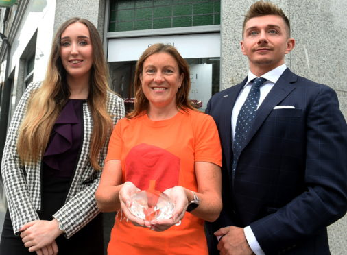 In the picture at Finnies Jewellers, Aberdeen are from left; Emma Booth,  Paula Cormack and Declan Dawson.  Picture by Jim Irvine