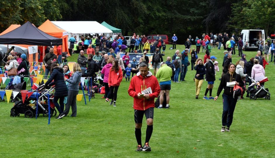 The Crathes Castle half marathon near Banchory.  Picture by Jim Irvine