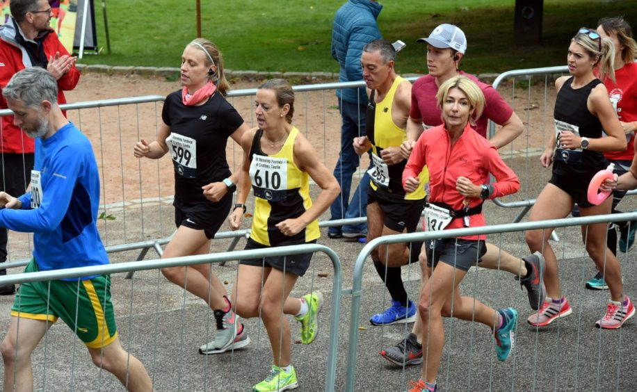 The Crathes Castle half marathon near Banchory. In the picture is the start of the half marathon. Picture by Jim Irvine