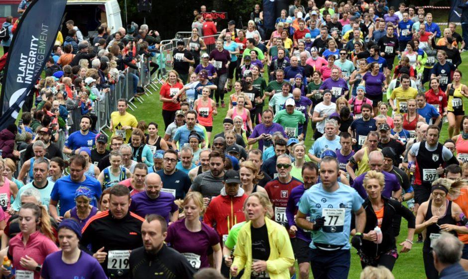 The start of the half marathon. Picture by Jim Irvine