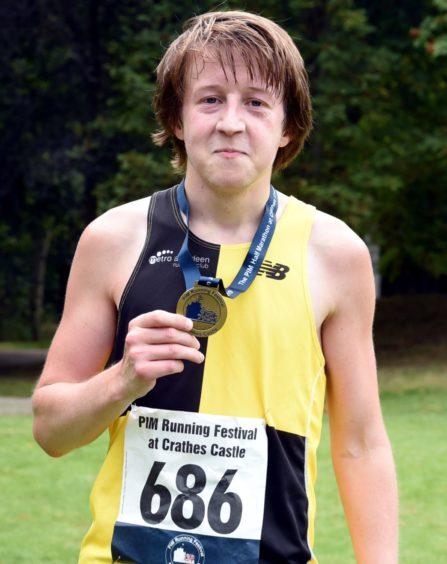 The winner of the half marathon, Jason Kelly. Picture by Jim Irvine