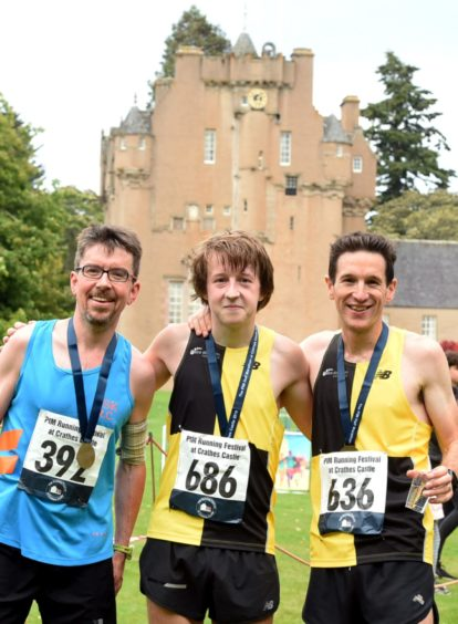 From left: Tom Roche, 2nd: Jason Kelly, 1st and Tom Brian, 3rd. Picture by Jim Irvine