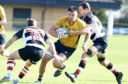 Corey Buchan playing for Gordonians.  Picture by Jim Irvine