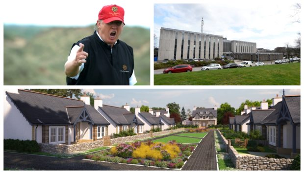 Trump's plan was approved by Aberdeenshire Council.