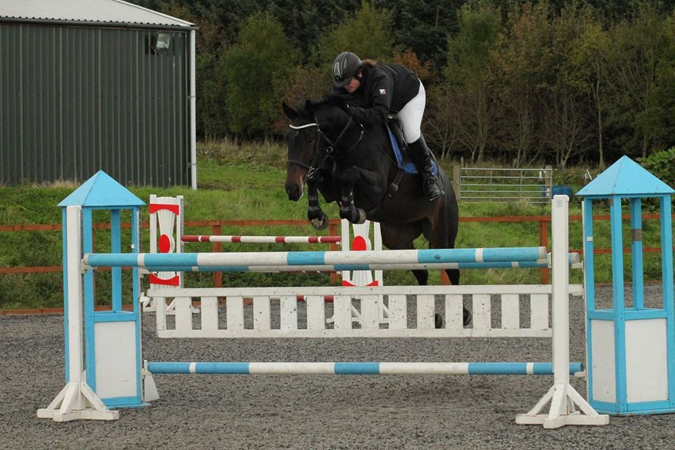 Kirsty Richardson – daughter of owner Fiona Quennell - riding at the centre