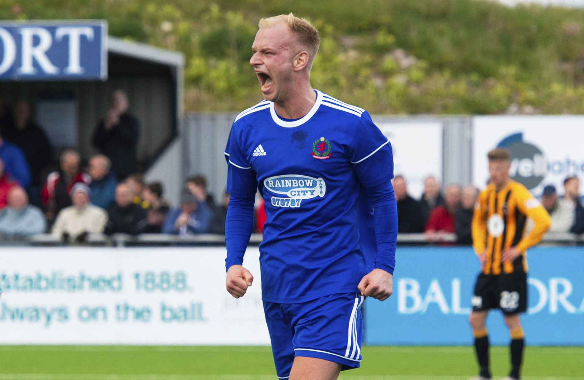 Jordon Brown played a part in getting Cove Rangers promoted to the SPFL.