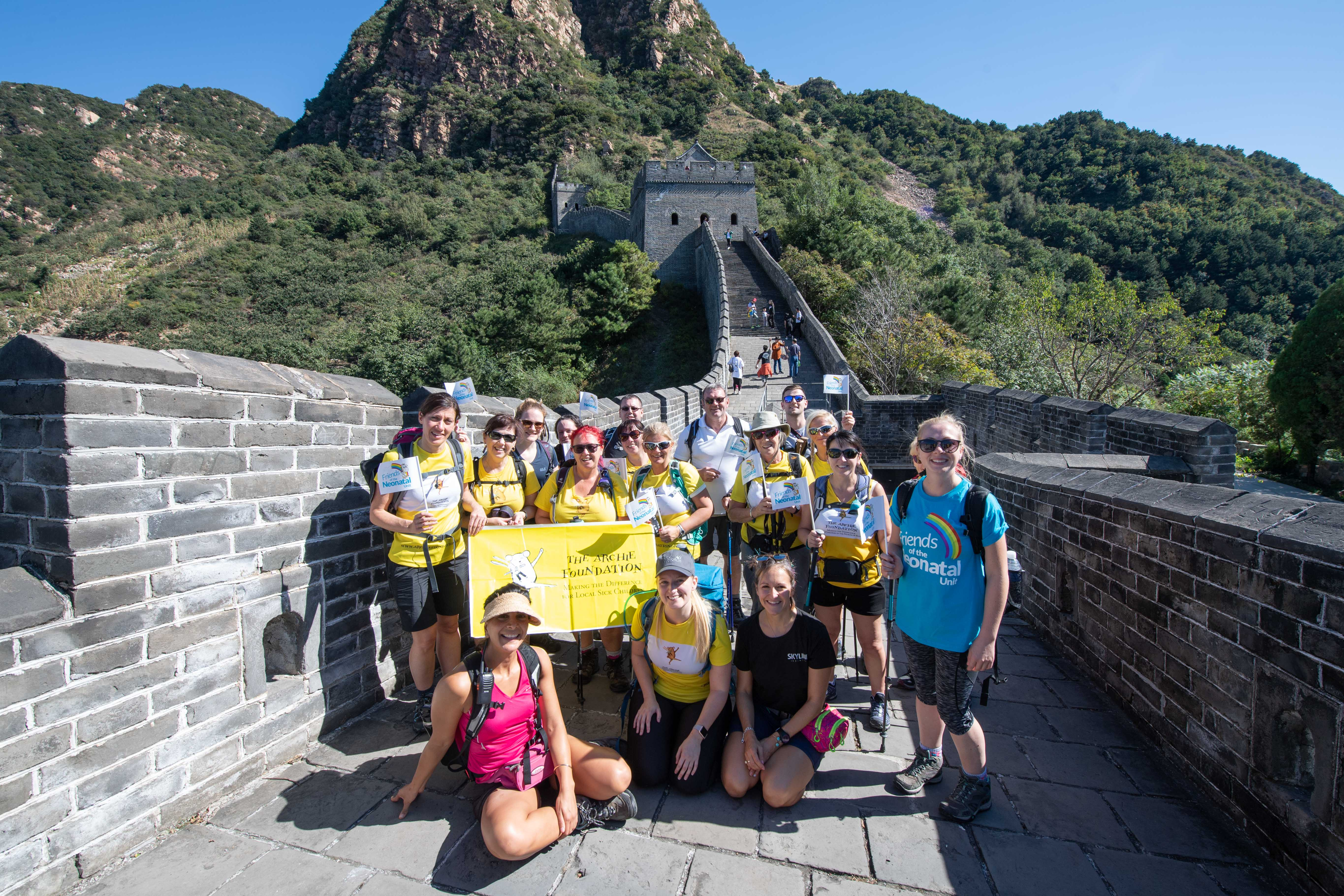 Archie Foundation Great Wall of China Trek 2018  Picture by Abermedia / Michal Wachucik