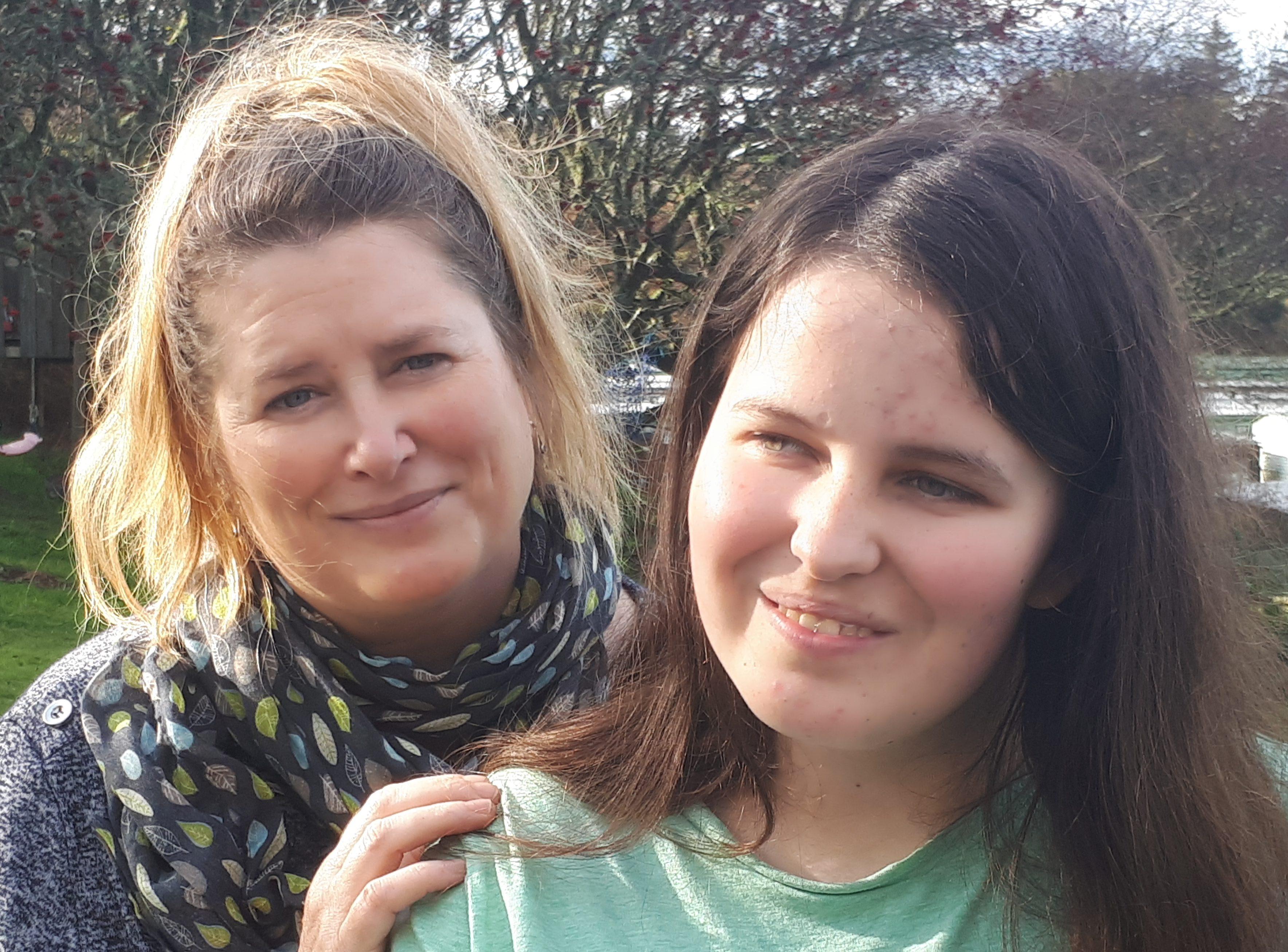 Jamie Buckley, 18, with mum Jenny.