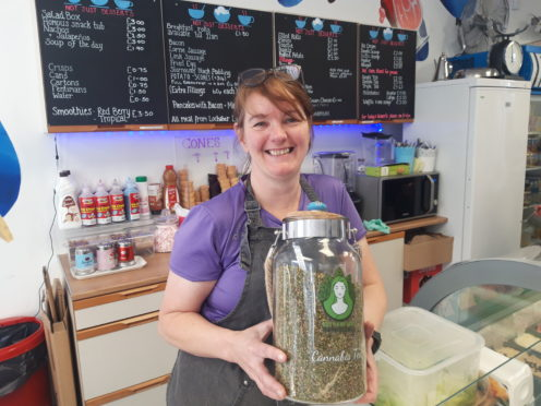 Helen Smith of Not Just Desserts who have started serving a cannabis tea with some interesting results.