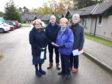 Relatives protesting against Albyn Housing development