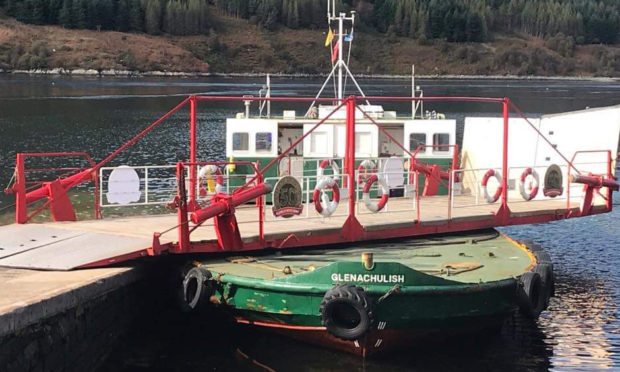 The MV Glenachulish is the worlds last manually-operated turntable ferry