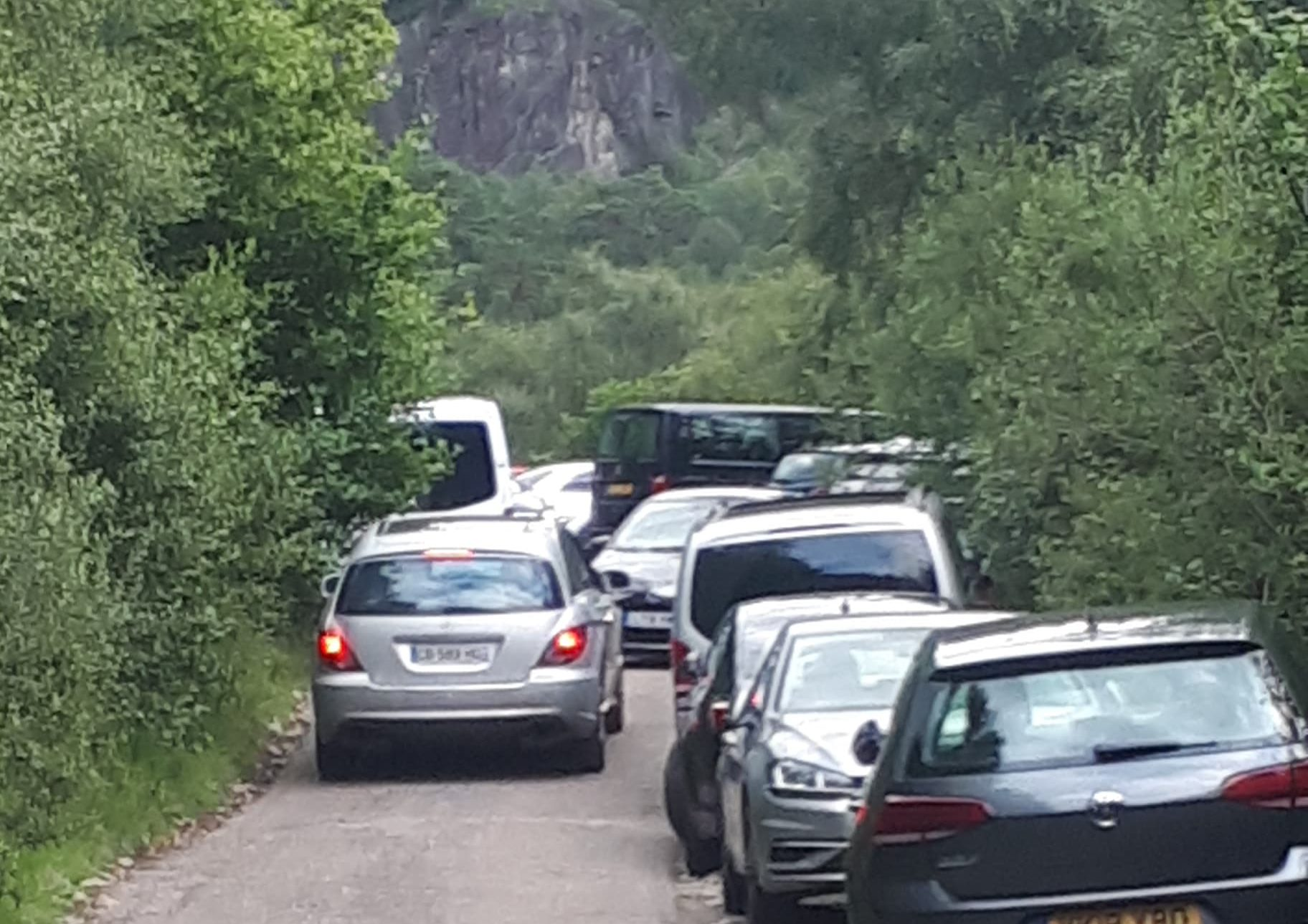 Parking problems at Glen Nevis.