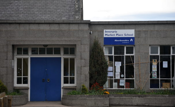 Inverurie's Market Place school, before it shut in 2017