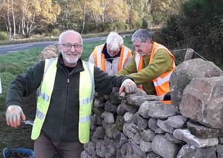 Drystone wallers under the direction of Billy McCallum
