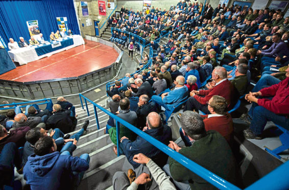 Hundreds of farmers attended the crisis meeting.