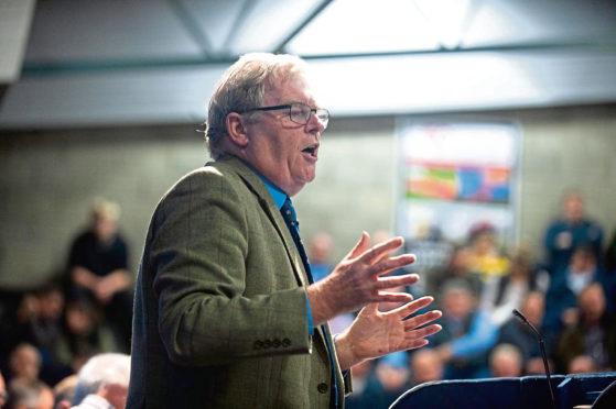 Stuart Ashworth speaking at the meeting.
