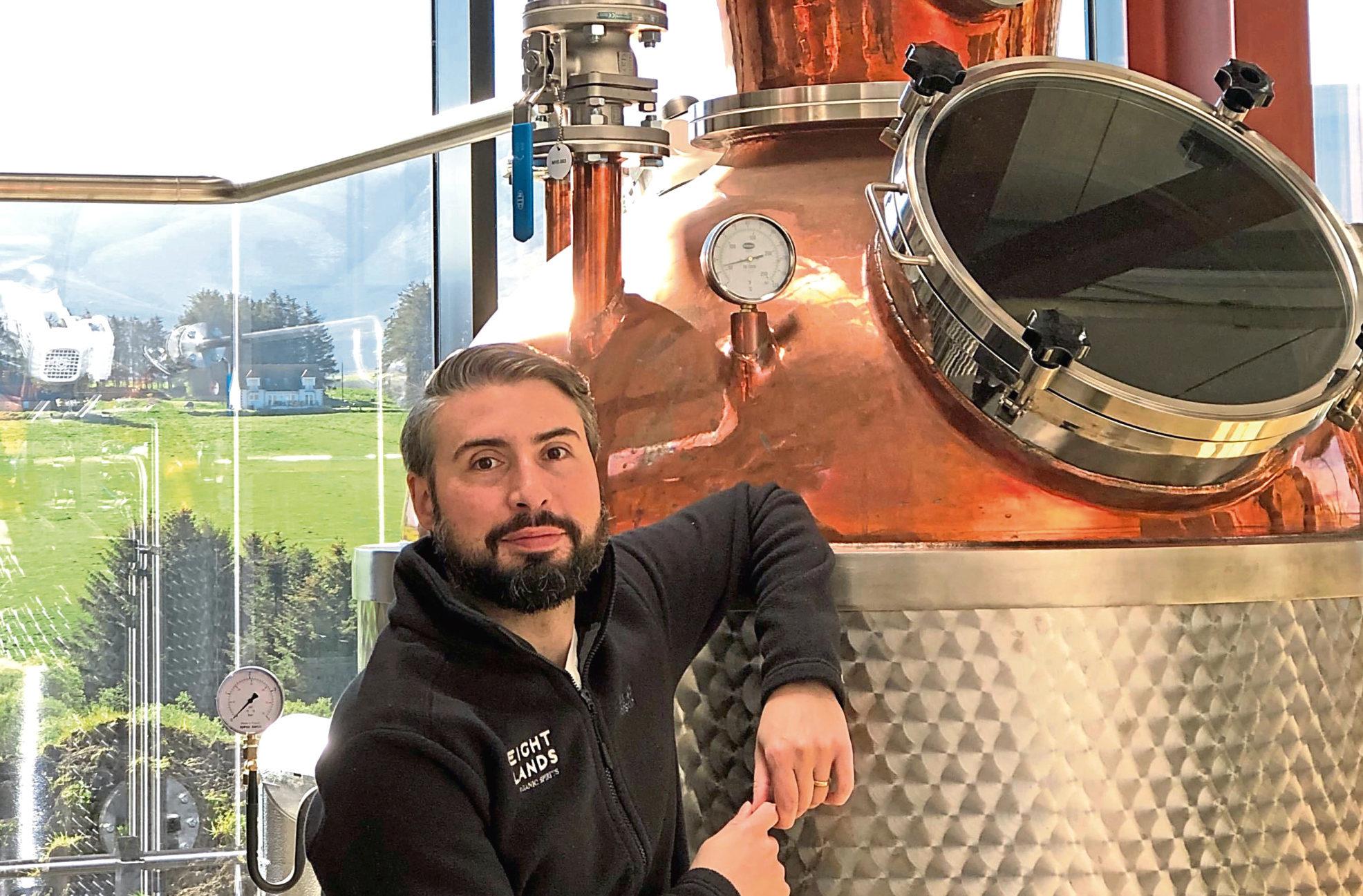 Alex Christou at Glenrinnes Distillery