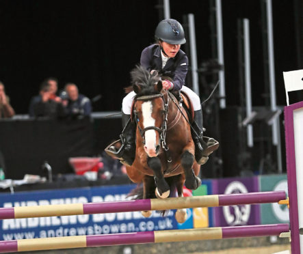 Millie Lawson riding Hary at HOYS. Credit: 1st Class Images