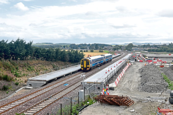 Pictured is the construction to the new Kintore train / railway station site. Kintore Station, Kintore, Aberdeenshire. Picture by DARRELL BENNS     Pictured on 22/08/2019 CR0013257