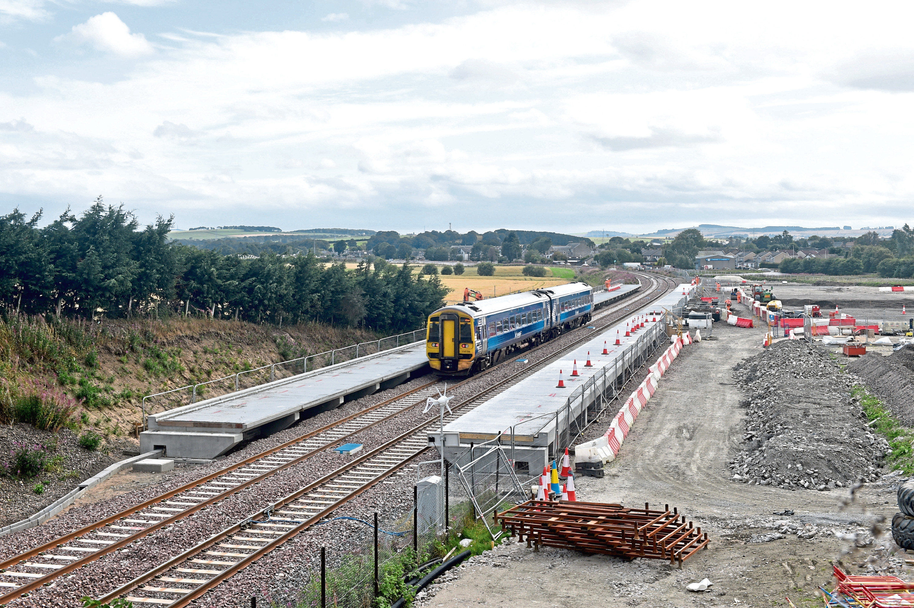 The new Kintore railway station under construction.