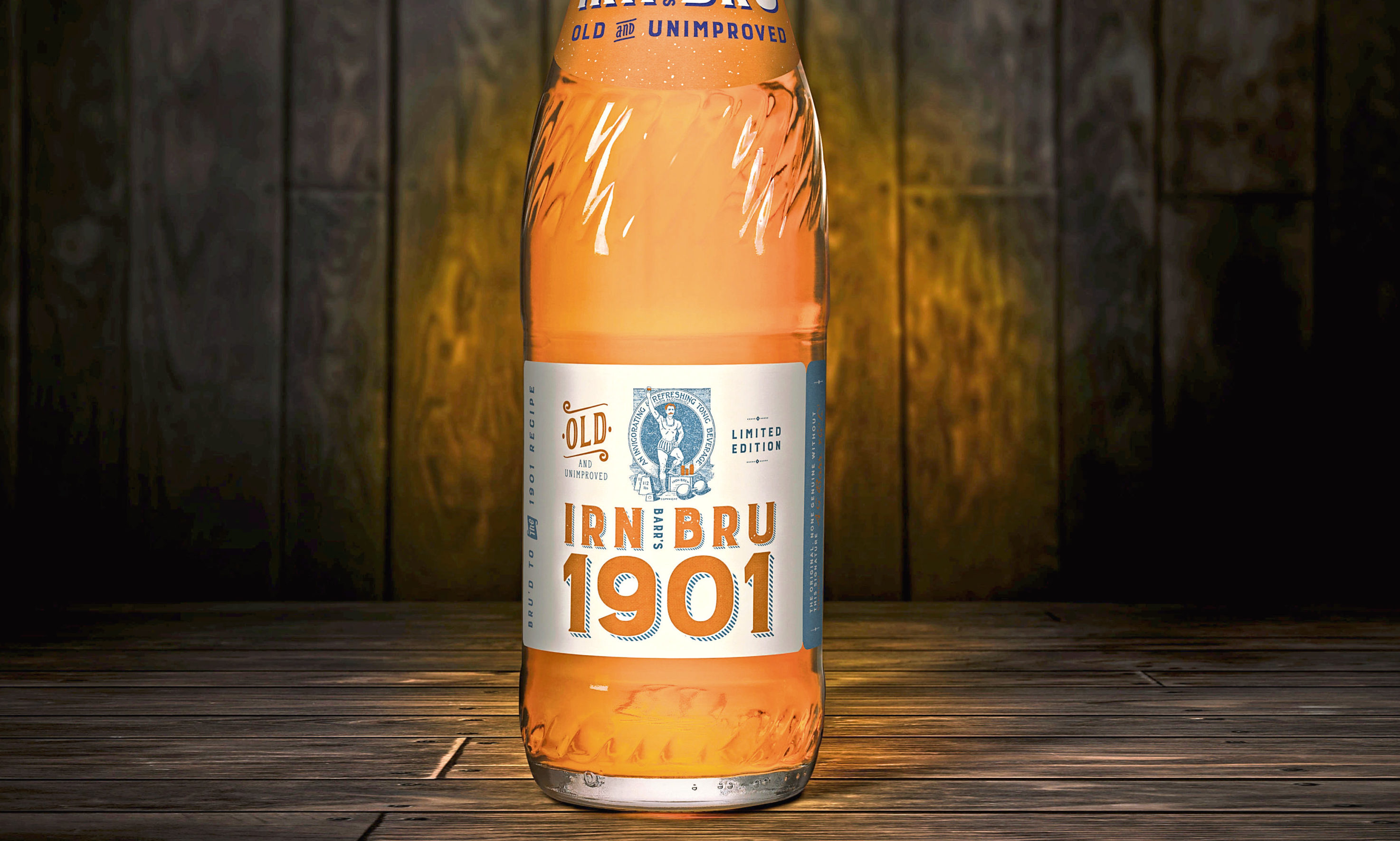 A bottle of the limited edition Irn-Bru 1901 is to hit the shops in Scotland from December 2.