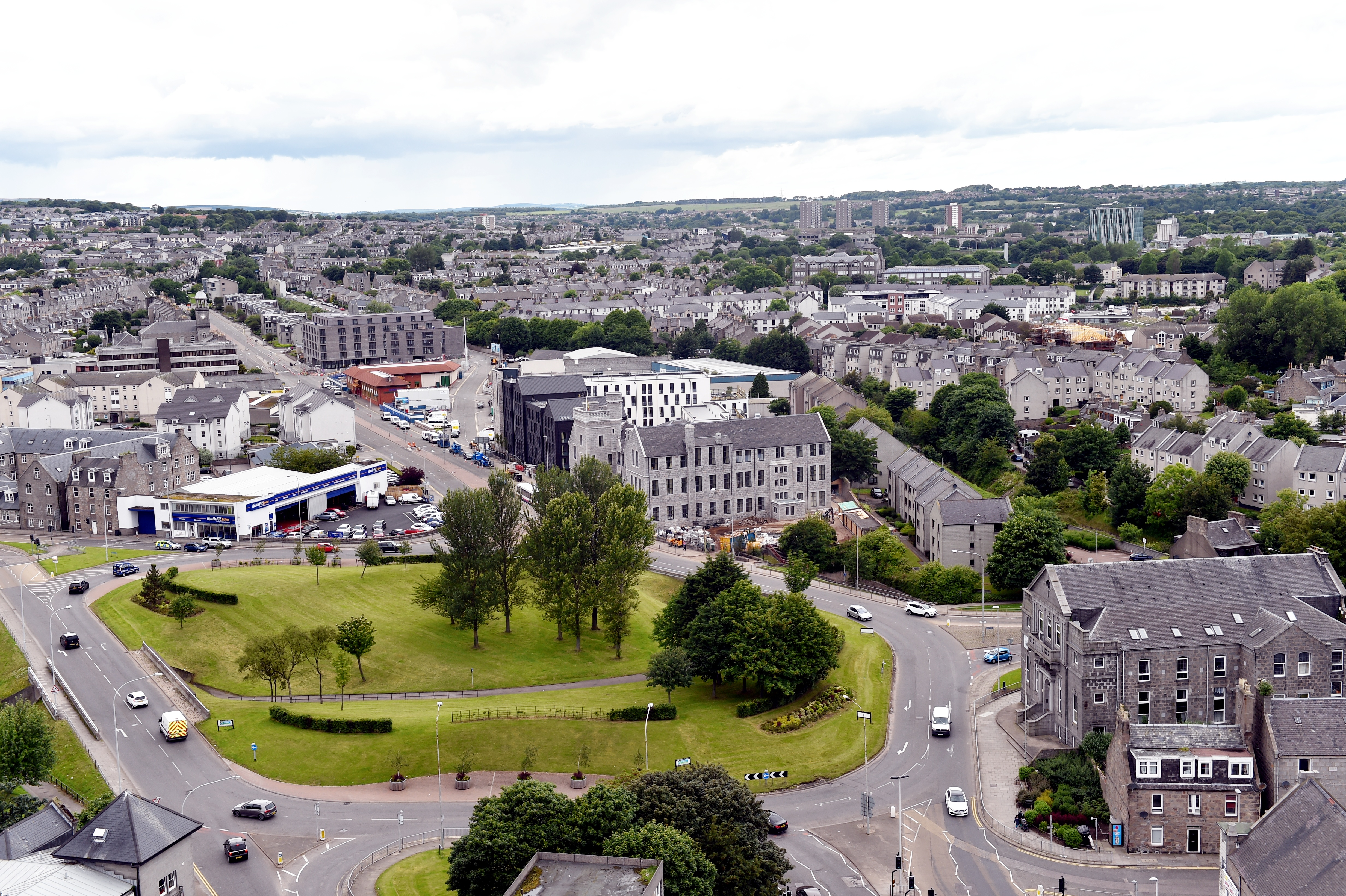The Mounthooly roundabout in Aberdeen.