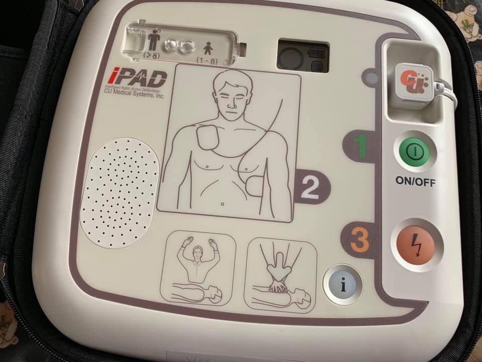 One of the defibrillators.