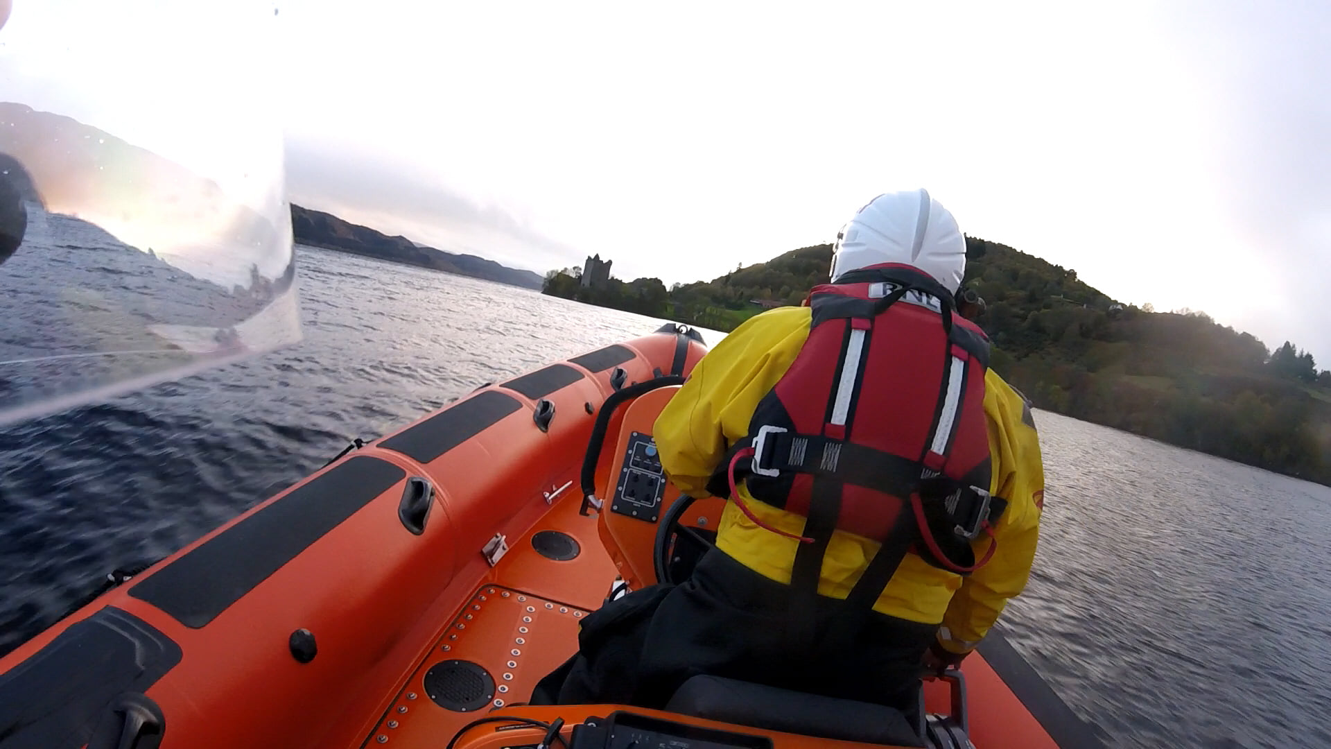 The RNLI crew from Loch Ness were sent to assist after two people were spotted in the water in Urquhart Bay