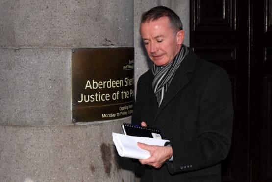 David Wilkie-Thorburn leaving court.