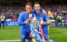Greg Tansey and Danny Williams with the 2015 Scottish Cup.