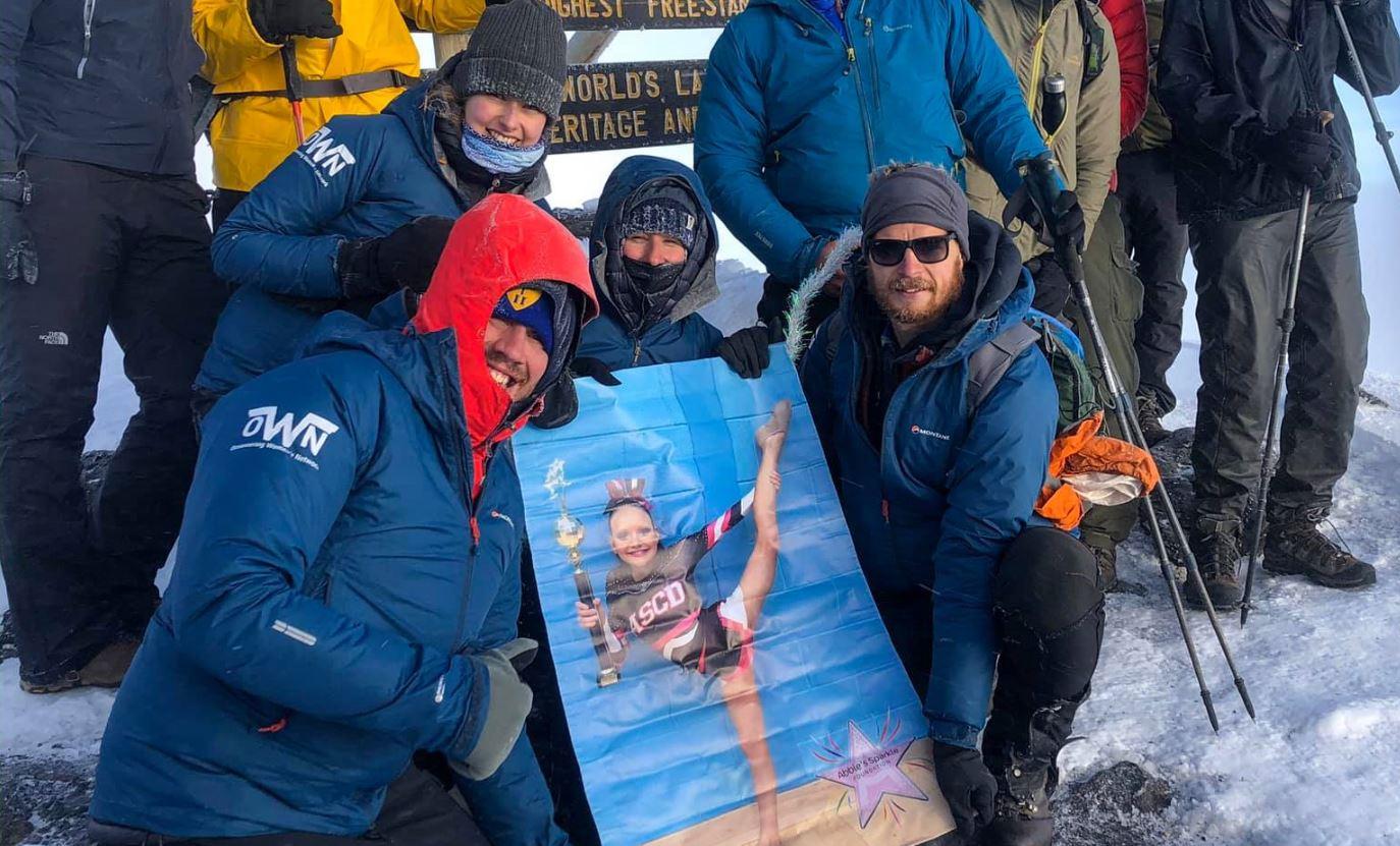 The group at the summit of Kilimanjaro.