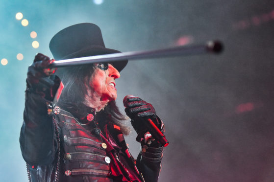 Alice Cooper performing at P&J Live.