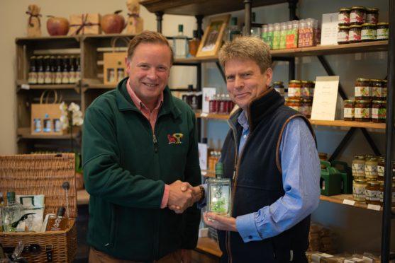 Angus Gordon Lennox, owner of Gordon Castle, and Mark Bilsby, chief executive of the Atlantic Salmon Trust.