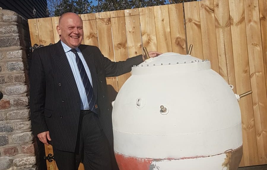 Lord Provost Barney Crockett with the mine