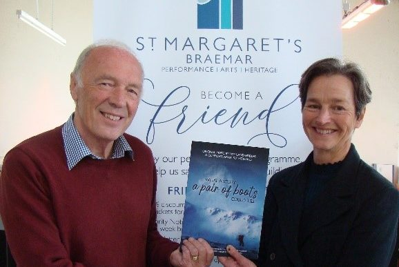 Brian Wood, Chair of St. Margaret's Trust and Isabel Davies sponsor of the Tunes Book