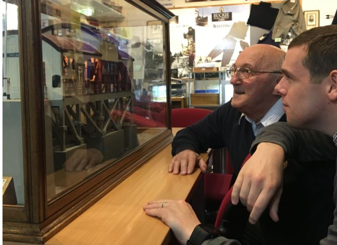 Moray MP Douglas Ross at the Buckie and District Fishing Heritage Centre.