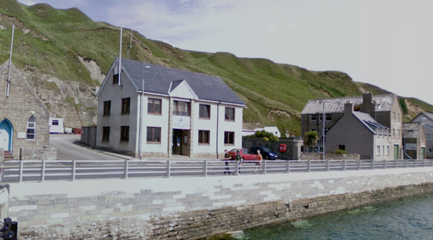 Google maps screenshot of the Marine Scotland's office in Scrabster, Caithness.