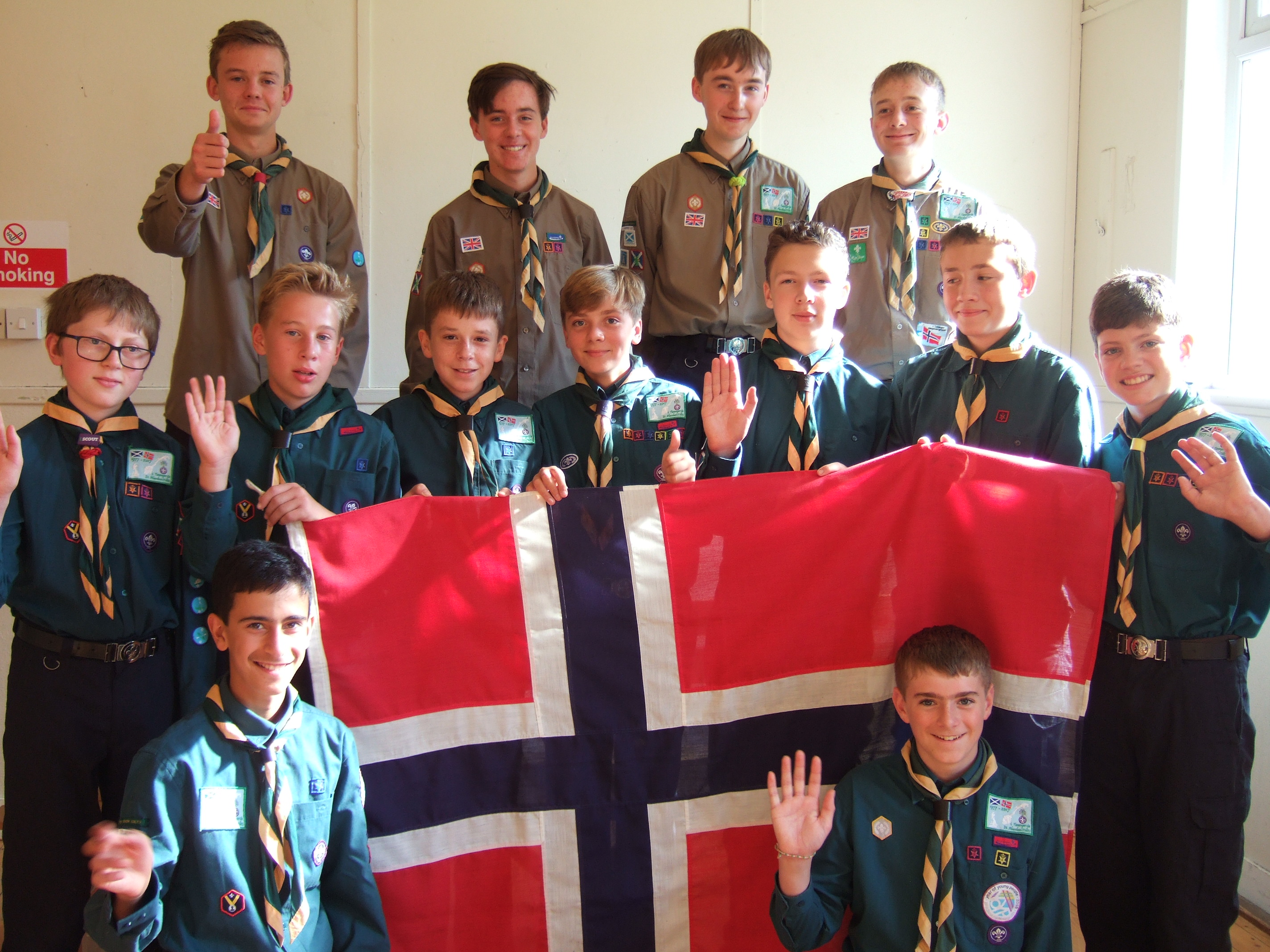 Scouts from 21st Aberdeen Cults Scout Group