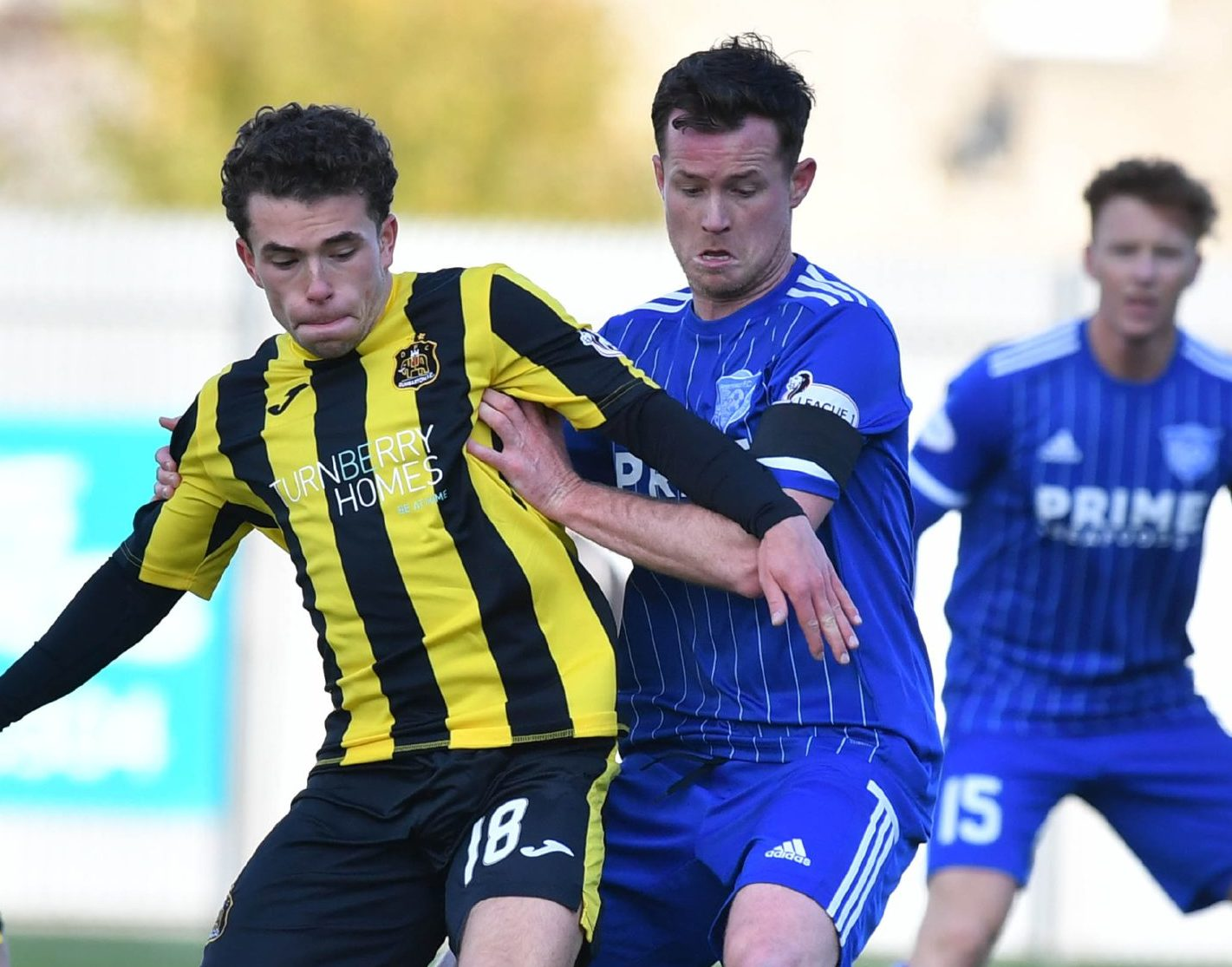 Paddy Boyle, right, in action for Peterhead