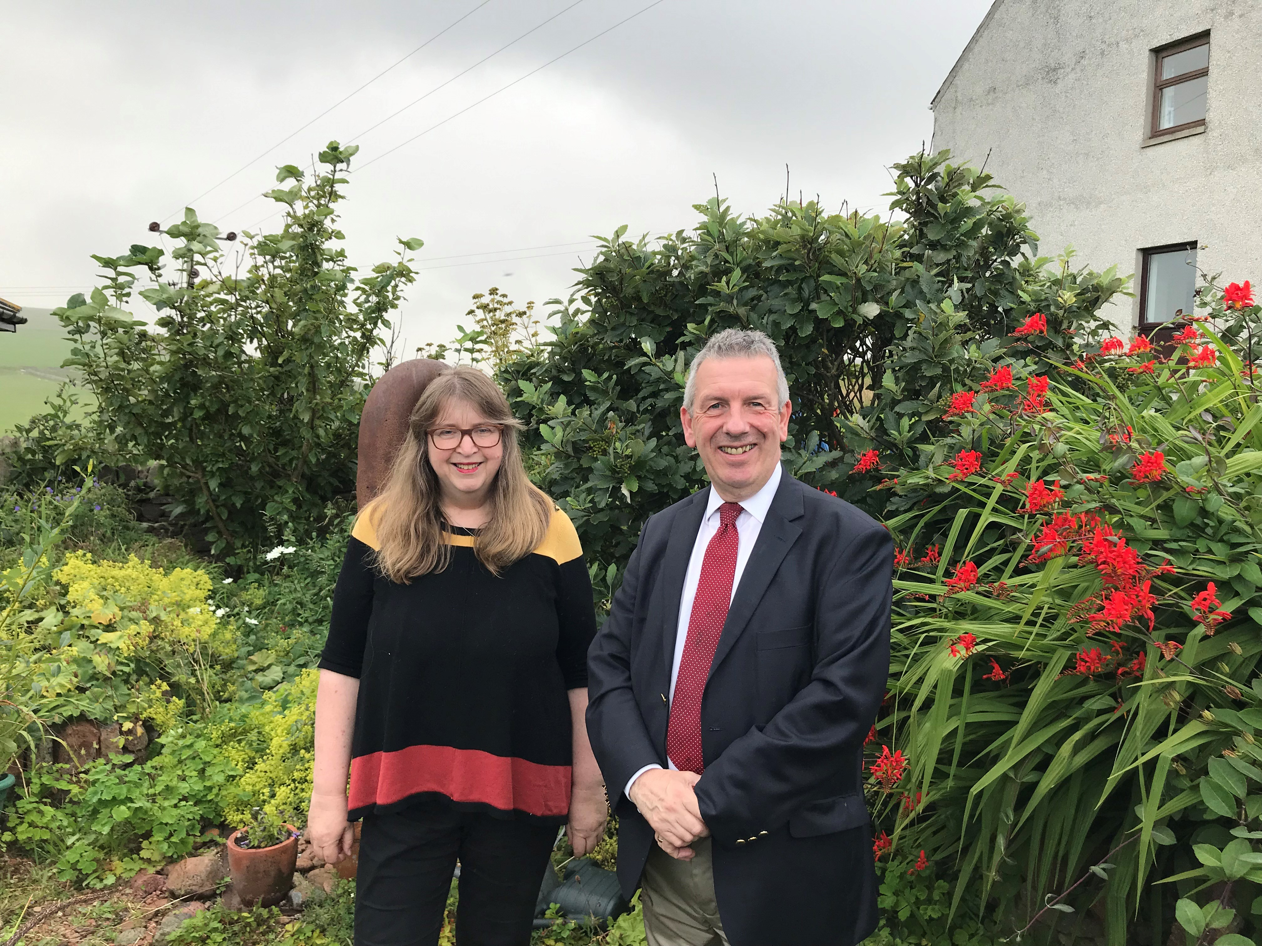MSP David Stewart with GP Susan Bowie at her Shetland practice