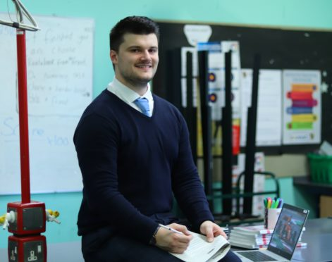 Newly qualified Inverurie Academy physics teacher Duncan Barclay