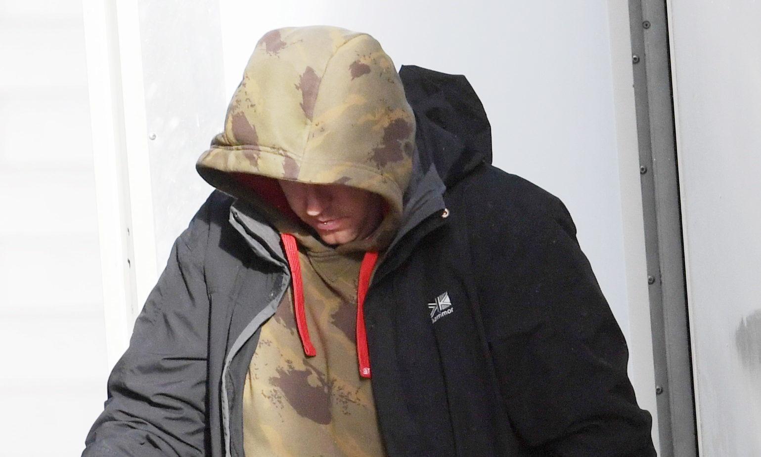 Michael Scott pictured leaving court.