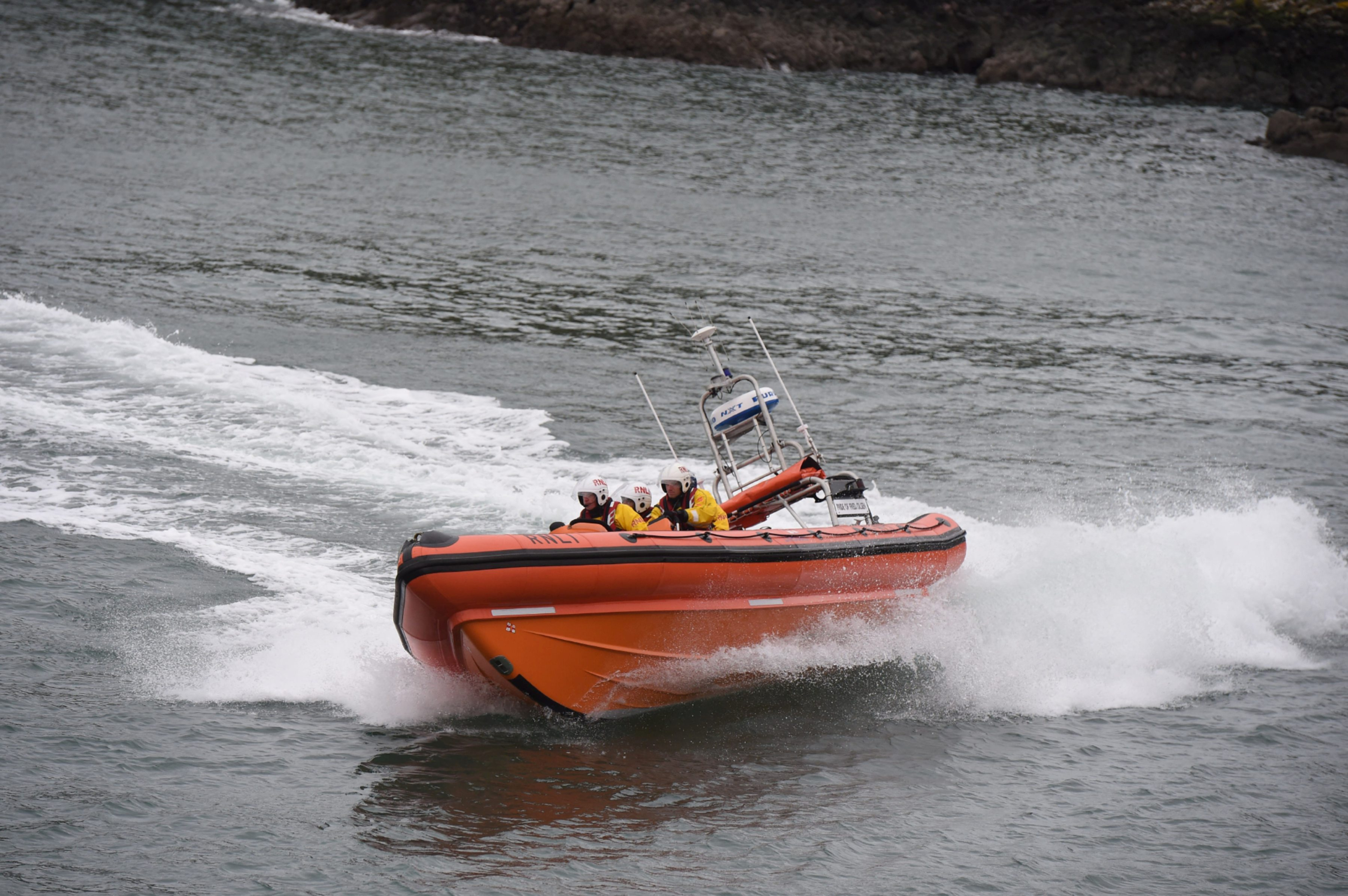 A RNLI lifeboat crew were tasked with the rescue.