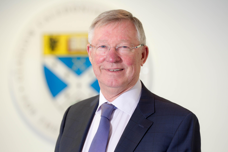 Sir Alex Ferguson inspires GCU students  Pic Peter Devlin